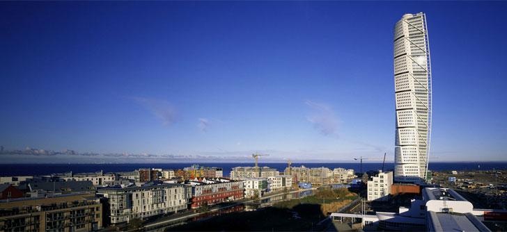 Turning Torso en la ciudad sueca de Malmö.
