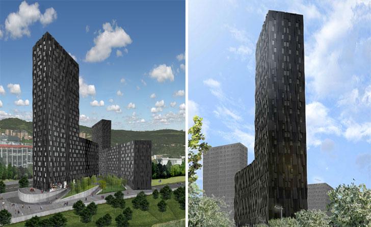 Las dos fases del proyecto de viviendas sociales.