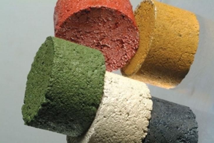 Asfalto con biomasa incorporada.