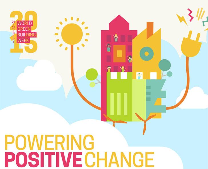 Cartel de la Semana de la Edificación Sostenible.