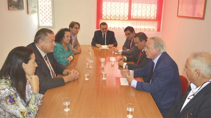 Bernabé se reúne con el presidente de la Confederación Nacional de la Construcción.