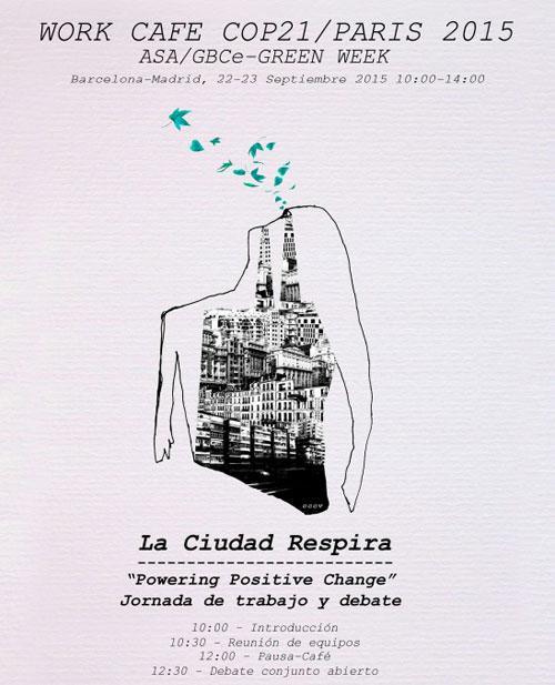 Cartel del workshop La Ciudad Respira