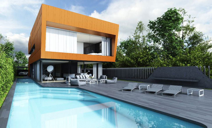 Casa modular de madera con calificación energética A.