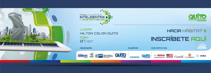 Cartel del Foro Internacional de Quito.