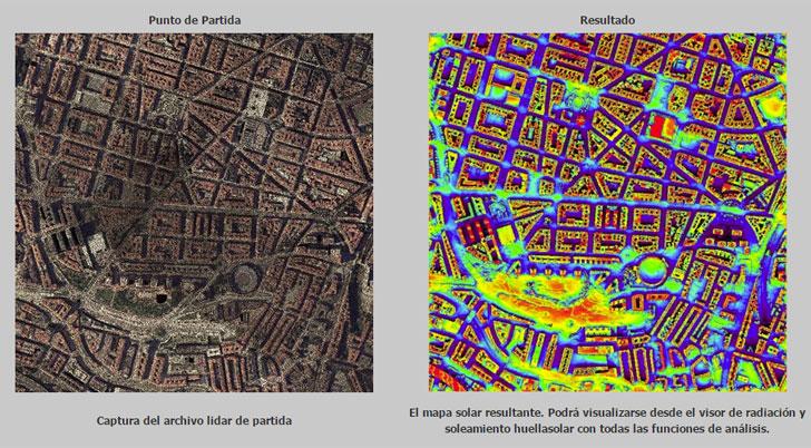 Mapa urbano solar.