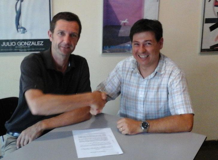 Firma del convenio entre GBCe y BuildingSMART Spanish Chapter.