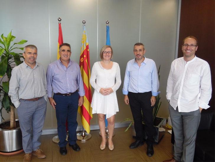 Representantes de la Consellería y el Ayuntamiento de Segorbe.