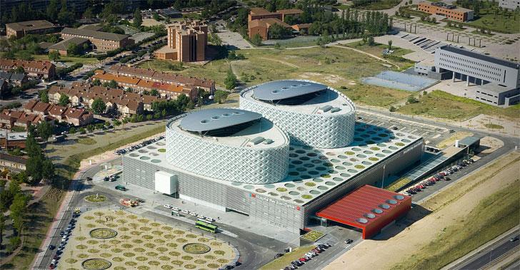 Vista del aire del Hospital.