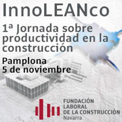 Cartel de la I Jornada de Productividad en la Construcción.