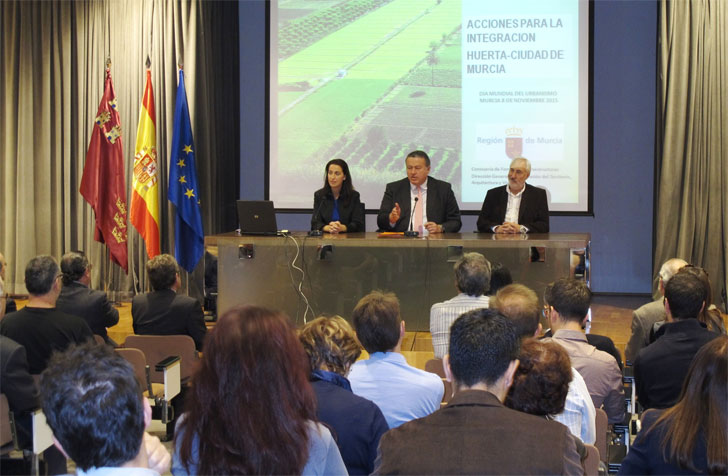 Ponencia sobre las Acciones para la integración Huerta-Ciudad de Murcia.