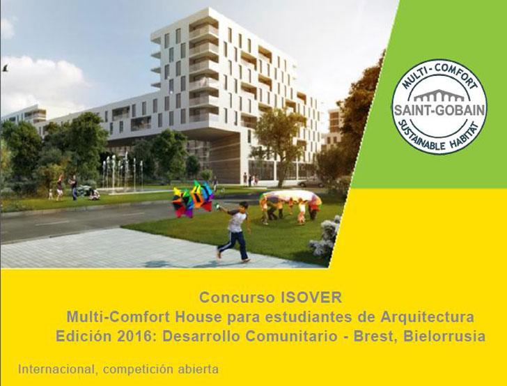 Cartel del Concurso Isover Multi-Comfort House.