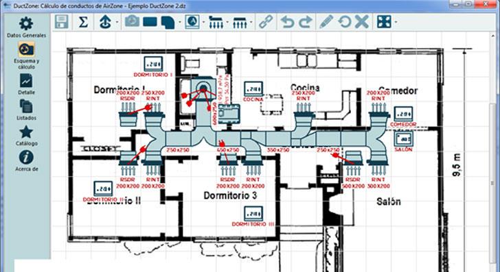 nuevo software orientado al cálculo de conductos de aire