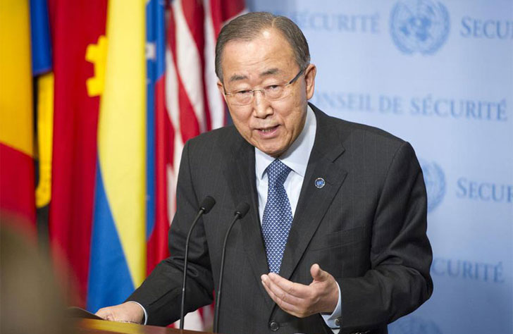 Internvención de Ban Ki-moon.