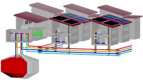 Sistema de almacenamiento de calor.