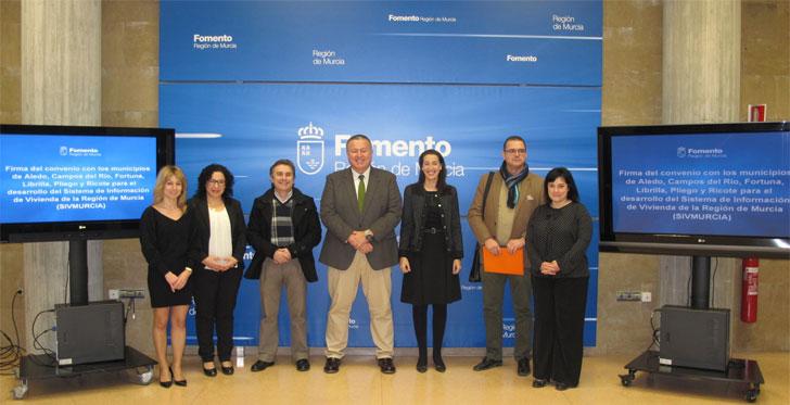 Firma del convenio SivMurcia con los nuevos ayuntamientos.