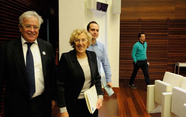 Alcaldesa de Madrid y director ejecutivo de ONU-Habitat.