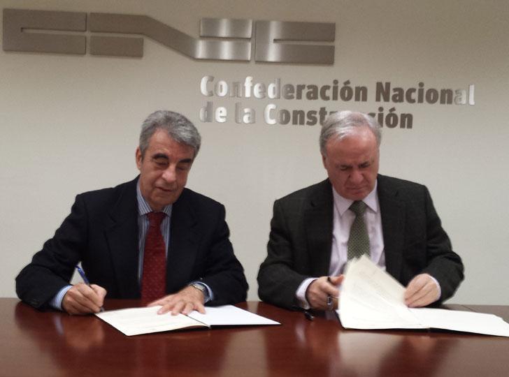 Firma del acuerdo entre Fundación Laboral y CGATE.