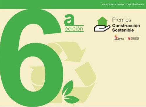 Cartel de la 6ª Edición de Premios de Construcción Sostenible.