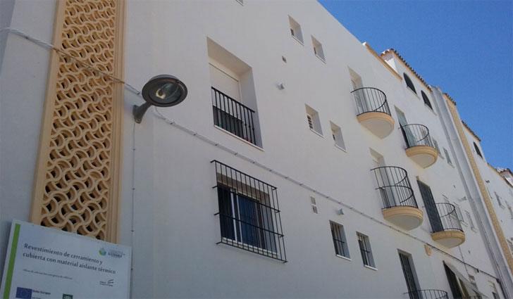 Edificio rehabilitado en Jerez.