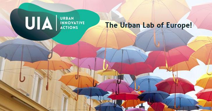 Logo del llamamiento de Acciones Urbanas Innovadoras.