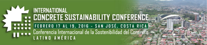 Cartel de la Conferencia Internacional de la Sostenibilidad del Concreto.