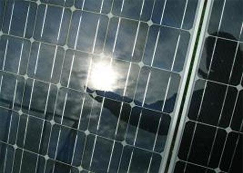 Panel de energía solar.