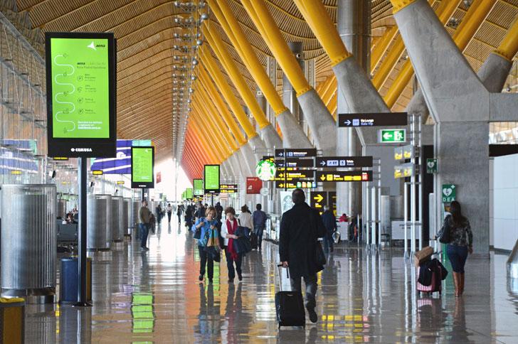 Aeropuerto de Madrid-Barajas.