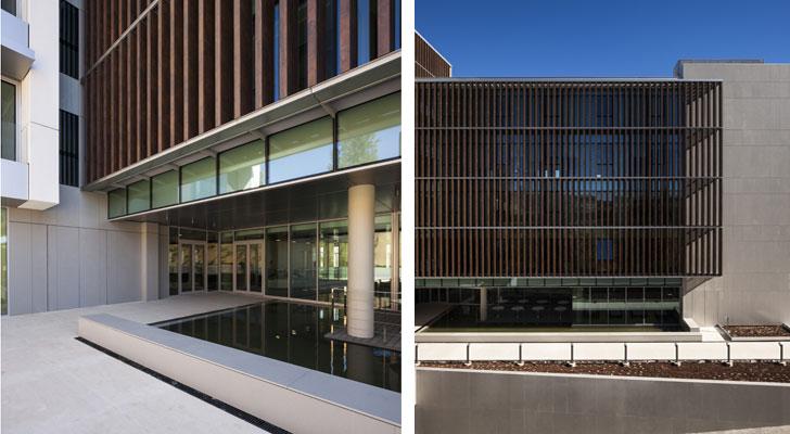 Tres tipos de fachada en el edifico de cajamar en almer a for Oficinas cajamar almeria