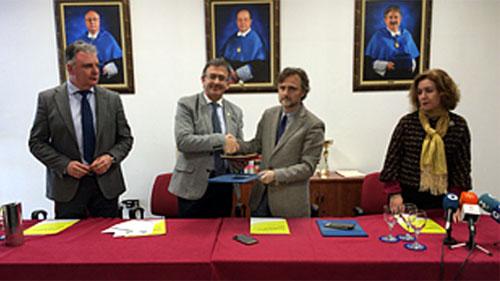 Firma del acuerdo de Ecocampus.