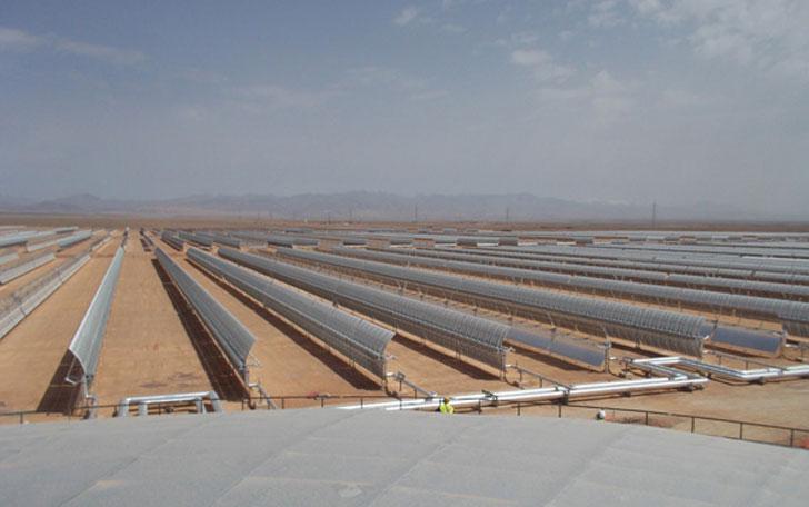 Planta solar Noor de Marruecos.