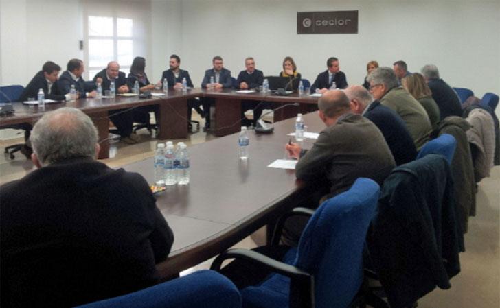 Reunión de las Cámaras de Comercio y CECLOR.