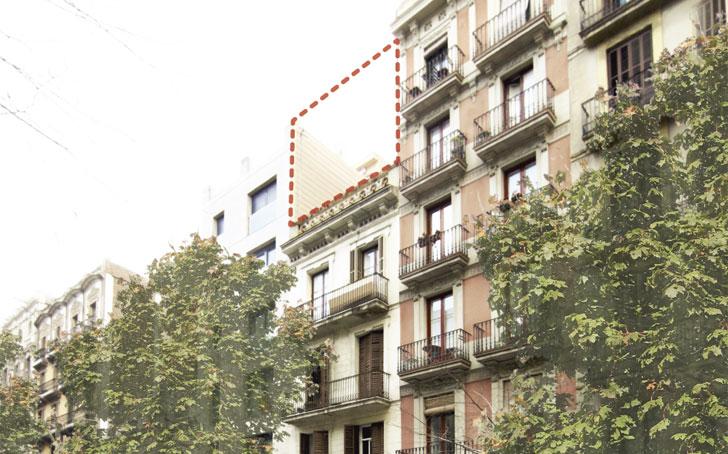 Ático ecoeficiente tejados Barcelona.