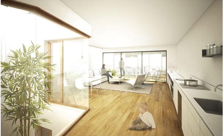 Interior de las nuevas viviendas.