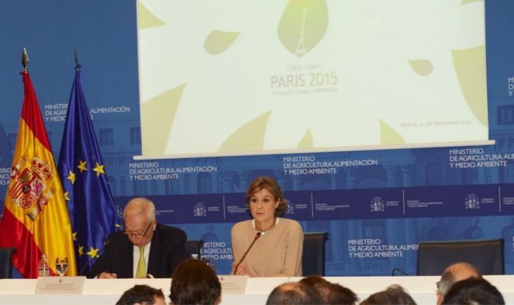 García Tejerina en la COP21.
