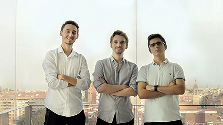 Estudiantes de la UAB diseñadores del sistema.