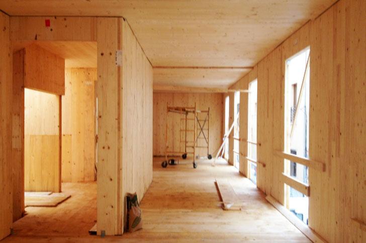 Estructura de madera del inmueble.