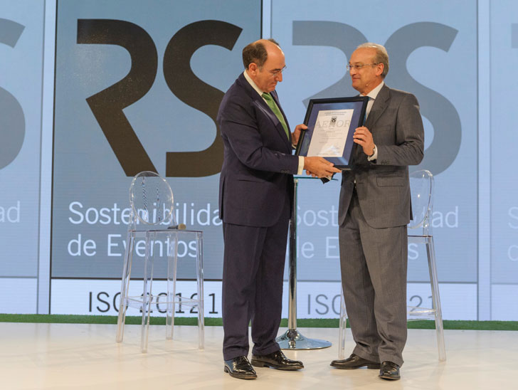 Iberdrola recibe el certificado AENOR de Evento Sostenible.