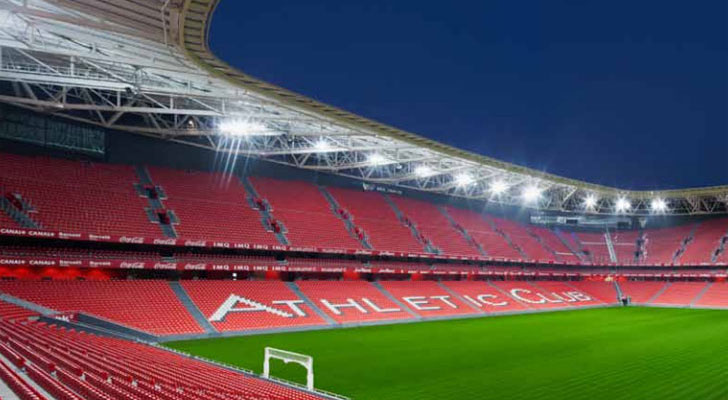 El nuevo estadio San Mamés aumenta su aforo.