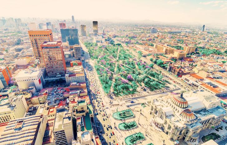Imagen de una ciudad sostenible.