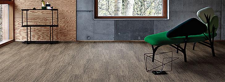 Interface y Aquafil diseñan un nuevo pavimento híbrido con aspecto de madera.
