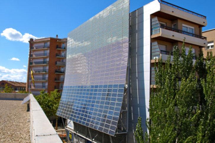 Integración de renovables en edificios catalanes.