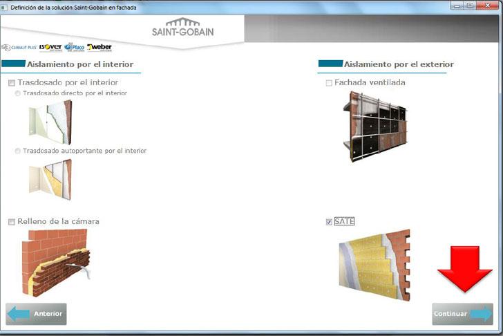 Soluciones en fachada Isover.