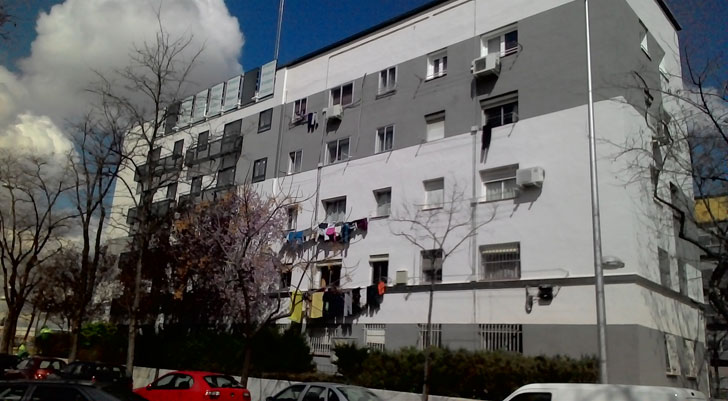 Edificio tras la rehabilitación integral.