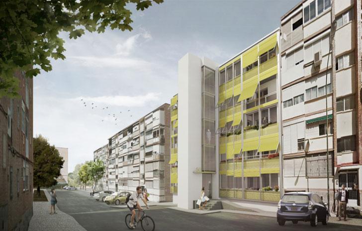 Edificio rehabilitado en San Pedro de Cardeña con el Plan Renove Manoteras y Plan MAD-RE.