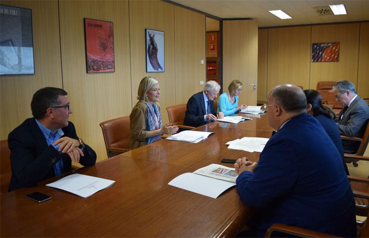 Reunión para la rehabilitación de TSJCV y la Ciudad de la Justicia de Valencia.