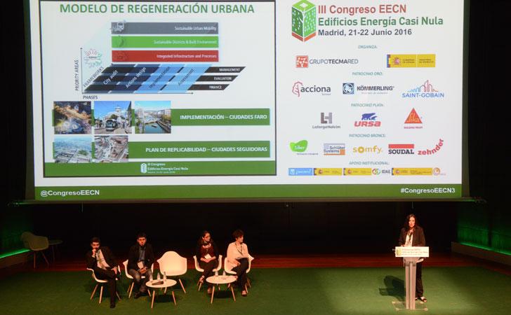 Cristina de Torre de Cartif en su intervención enIII Congreso Edificios Energía Casi Nula
