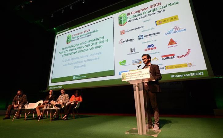 Gil Lladó,Área Metropolitana de Barcelona en III Congreso Edificos Energía Casi Nula.