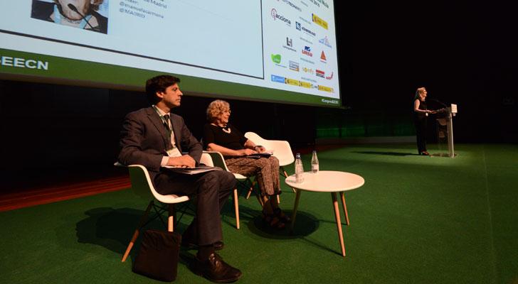 La directora del Congreso Edificios Energía Casi Nula, Inés Leal, en la inauguración