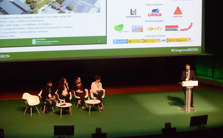RubénCereijo, responsable de Servicios Energéticos, en su intervención enII Congreso Edificios Energía Casi Nula.