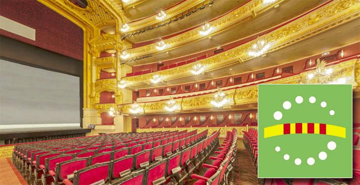 Gran Teatro Liceo de Barcelona. Ecoetiqueta. Distintivo de Garantía de Calidad Ambiental.
